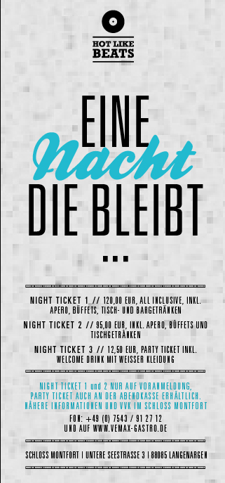 White Night Flyer Rückseite