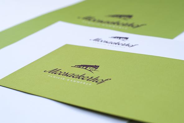 Moosackerhof: Briefpapier und Kuvert